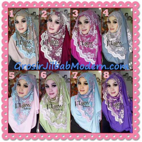 Jilbab Instant Cantik Syria Pashmina Terbaru LACENZA by Flow Idea Series