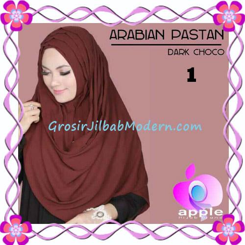 Jilbab Instant Modern Arabian Pastan Original by Apple Hijab Brand No 1 Dark Choco