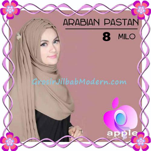 Jilbab Instant Modern Arabian Pastan Original by Apple Hijab Brand No 8 Milo