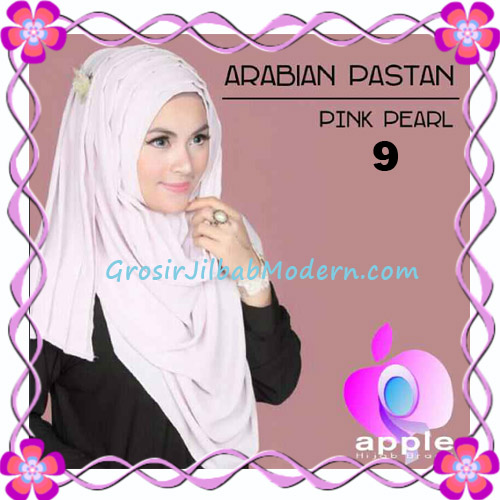 Jilbab Instant Modern Arabian Pastan Original by Apple Hijab Brand No 9 Pink Pearl