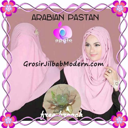 Jilbab Instant Modern Arabian Pastan Original by Apple Hijab Brand Tampak Depan-Belakang