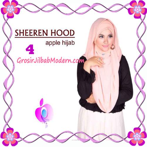 Jilbab Instant Modis Sheeren Hoodie Original by Apple Hijab Brand No 4 Peach