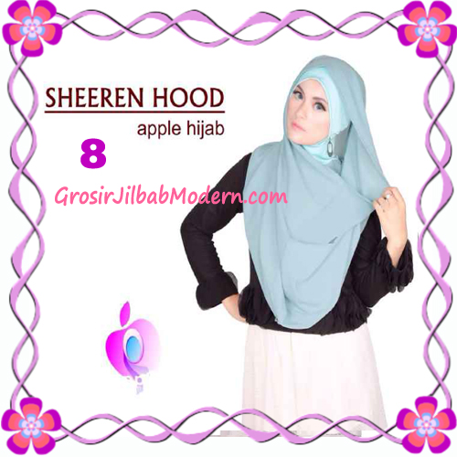 Jilbab Instant Modis Sheeren Hoodie Original by Apple Hijab Brand No 8 Mint
