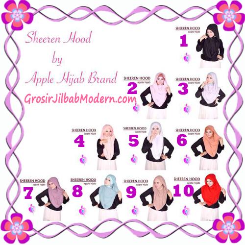 Jilbab Instant Modis Sheeren Hoodie Original by Apple Hijab Brand Series