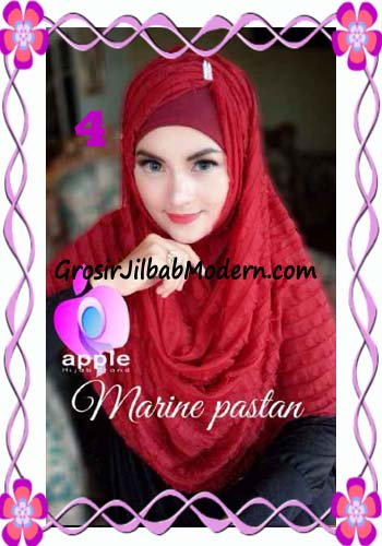 Jilbab Pashmina Instant Marine Modis by Apple Hijab Brand No 4 Marun