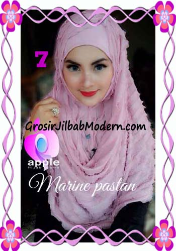 Jilbab Pashmina Instant Marine Modis by Apple Hijab Brand No 7 Dusty Pink