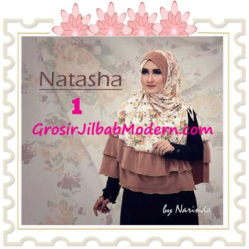 Jilbab Syar'i Natasha Pet Silang  Original by Narinda No 1 Coklat