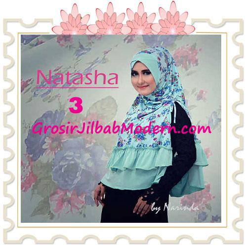 Jilbab Syar'i Natasha Pet Silang  Original by Narinda No 3 Biru Telurasin