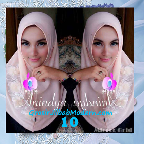 Jilbab Syria Anindya Bunga 3 Dimensi Original By Apple Hijab Brand No 10 Peach