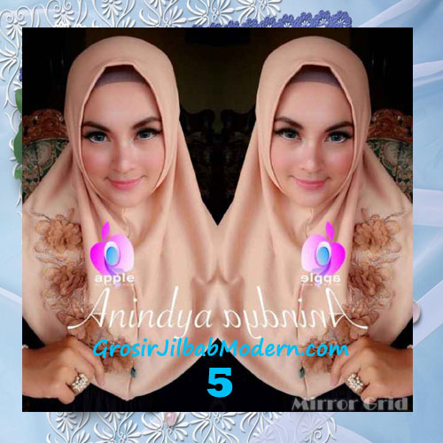 Jilbab Syria Anindya Bunga 3 Dimensi Original By Apple Hijab Brand No 5 Coksu