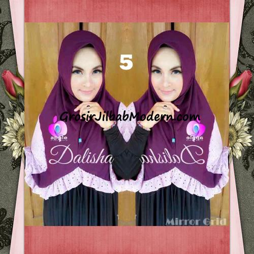 Jilbab Syria Cantik Dalisha by Apple Hijab Brand No 5 Ungu