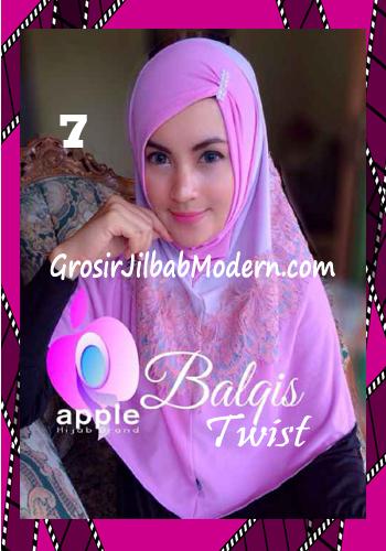 Jilbab Syria Cantik dan Mewah Balkis Twist Original by Apple Hijab Brand No 7 Dusty Soft - Lavender