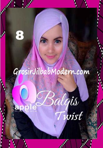 Jilbab Syria Cantik dan Mewah Balkis Twist Original by Apple Hijab Brand No 8 Soft Lavender - Dusty