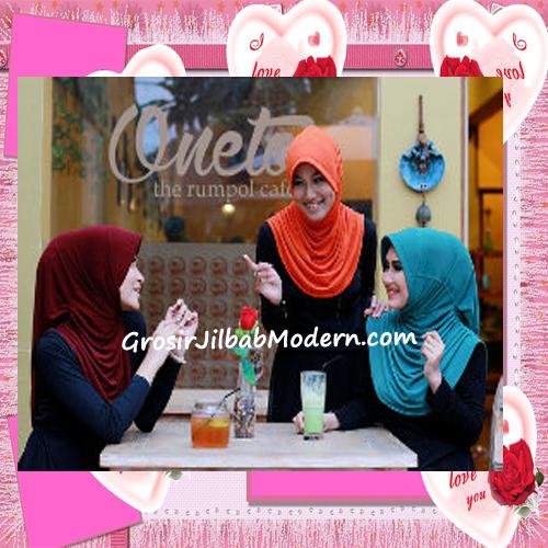 Jilbab Syria Layer Rumana Polos Modis marun, oren, biru toska
