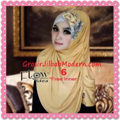 Jilbab Syria Modis Queenova Cantik Original by Flow Idea No 6 Kuning