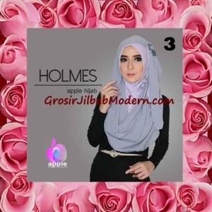 Jilbab Syria Pashmina Instant Modis Terbaru Holmes by Apple Hijab Brand No 3 Abu