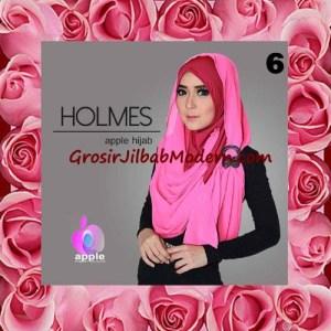 Jilbab Syria Pashmina Instant Modis Terbaru Holmes by Apple Hijab Brand No 6 Fusia
