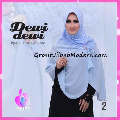 Jilbab Syria Syar'i Dewi Dewi Trendy Original by Apple Hijab Brand No 2