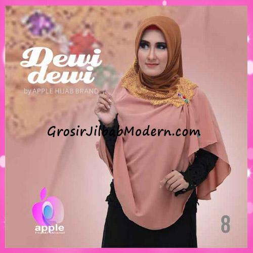 Jilbab Syria Syar'i Dewi Dewi Trendy Original by Apple Hijab Brand No 8
