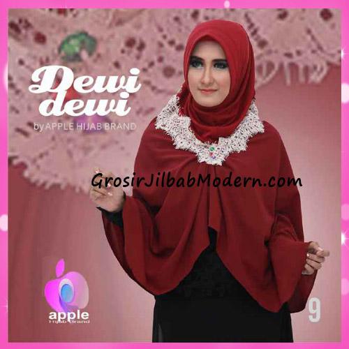 Jilbab Syria Syar'i Dewi Dewi Trendy Original by Apple Hijab Brand No 9