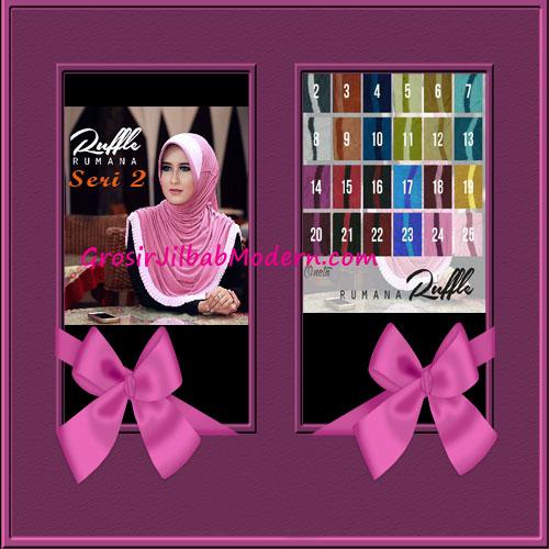 Jilbab Instant Modis Bergo Rumana Ruffle 2 Series