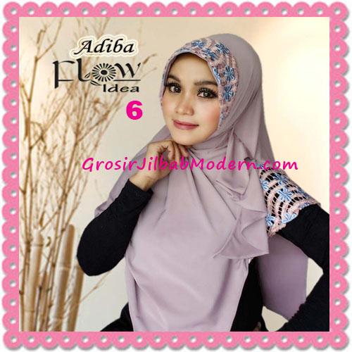 Jilbab Instant Syria Modis Adiba Original by Flow Idea No 6 Dusty Ungu