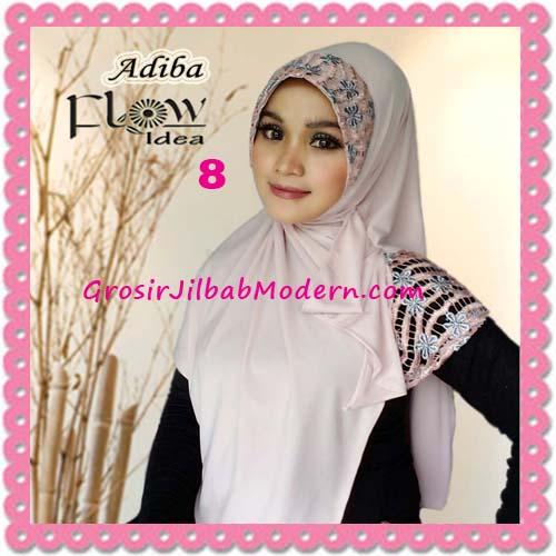 Jilbab Instant Syria Modis Adiba Original by Flow Idea No 8 Peach