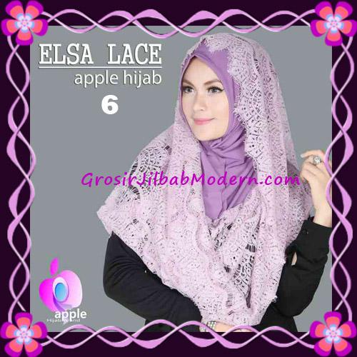 Jilbab Instant Terbaru Elsa Lace Hoodie Premium by Apple Hijab Brand No 6 Dusty Purple
