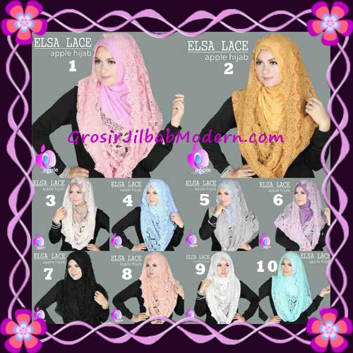 Jilbab Instant Terbaru Elsa Lace Hoodie Premium by Apple Hijab Brand Series