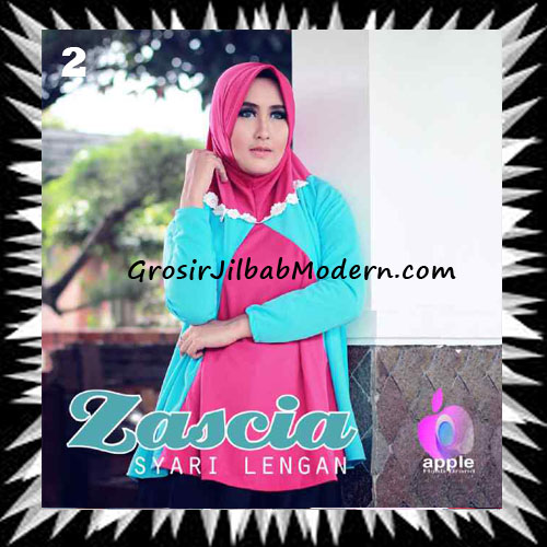 Jilbab Lengan Bergo Pet Syar'i Zascia Original by Apple Hijab Brand No 2 Fanta