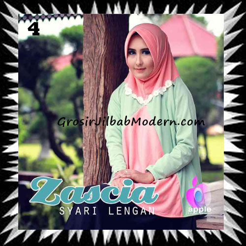 Jilbab Lengan Bergo Pet Syar'i Zascia Original by Apple Hijab Brand No 4 Salem