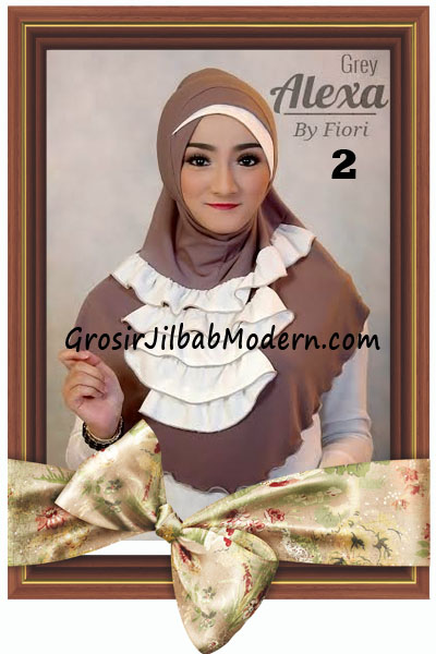 Jilbab Modern Cantik Syria Daily Alexa by Fiori Design No 2 Mocca