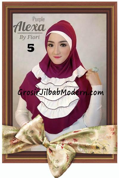 Jilbab Modern Cantik Syria Daily Alexa by Fiori Design No 5 Purple