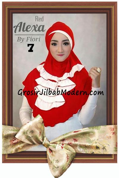 Jilbab Modern Cantik Syria Daily Alexa by Fiori Design No 7 Red