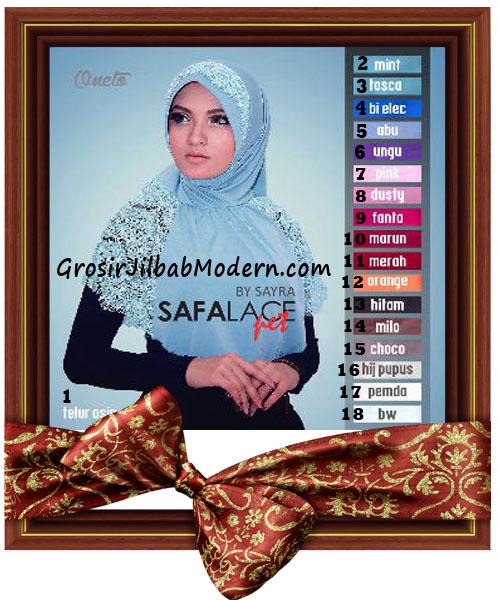 Jilbab Modis Safalace Pet by Sayra Series