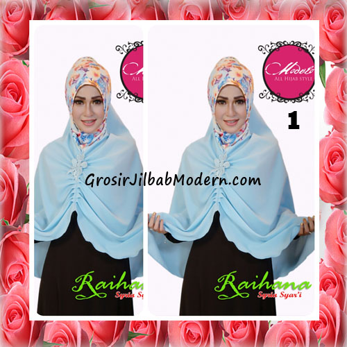 Jilbab Modis Syar'i Raihana Original by Modelo No 1 Biru Muda