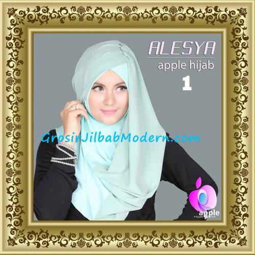 Jilbab Pashmina Instant Alesya Hana Premium by Apple Hijab Brand No 1 Mint