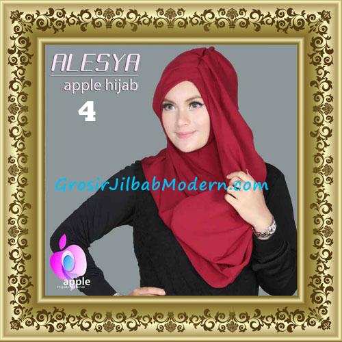 Jilbab Pashmina Instant Alesya Hana Premium by Apple Hijab Brand No 4 Marun