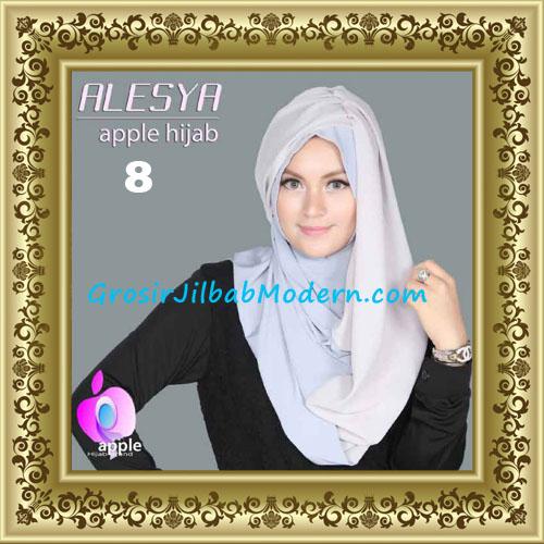 Jilbab Pashmina Instant Alesya Hana Premium by Apple Hijab Brand No 8 Abu