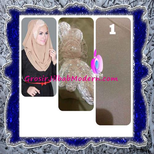 Jilbab Pesta Modern Pastan Deasy Cantik Original by Apple Hijab Brand No 1 Khaki