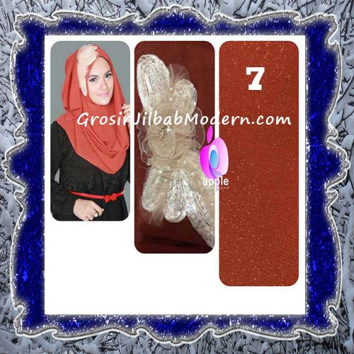 Jilbab Pesta Modern Pastan Deasy Cantik Original by Apple Hijab Brand No 7 Teracota