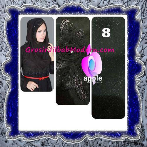 Jilbab Pesta Modern Pastan Deasy Cantik Original by Apple Hijab Brand No 8 Black