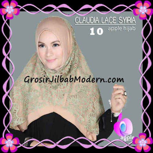Jilbab Syria Modern Claudia Lace Trendy Original By Apple Hijab Brand No 10