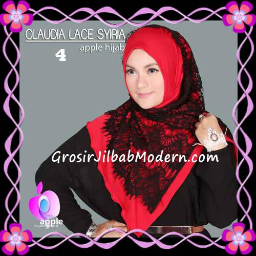 Jilbab Syria Modern Claudia Lace Trendy Original By Apple Hijab Brand No 4