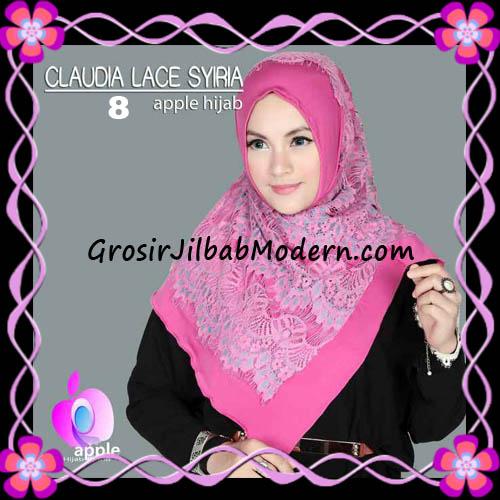 Jilbab Syria Modern Claudia Lace Trendy Original By Apple Hijab Brand No 8