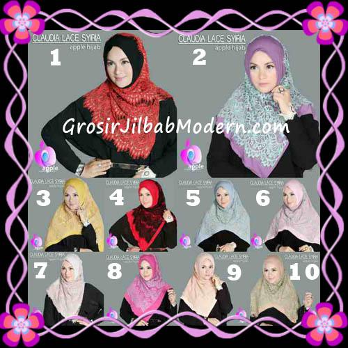 Jilbab Syria Modern Claudia Lace Trendy Original By Apple Hijab Brand Series