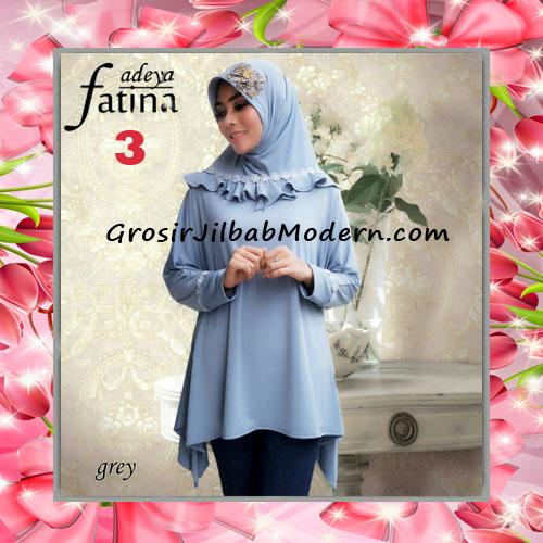 Jilbab Bergo Lengan Fatina Modis dan Cantik Original by Fadeya No 3 Grey
