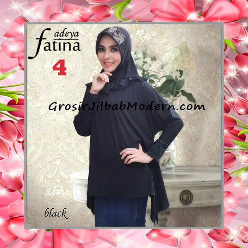 Jilbab Bergo Lengan Fatina Modis dan Cantik Original by Fadeya No 4 Black