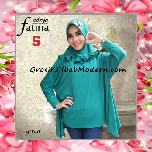 Jilbab Bergo Lengan Fatina Modis dan Cantik Original by Fadeya No 5 Green