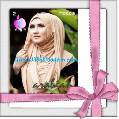 Jilbab Hoodie Instan Arabian Seri 2 by Apple Hijab Brand No 2 Mocca